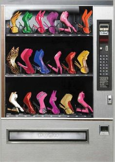 Vending machine of shoes? Yes, please!