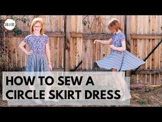 Today's new video will show you how to sew a circle skirt dress! Watch the video to make the perfect twirly dress for your little one. Circle Skirt Dress, Dress Skirt, Circle Skirt Calculator, T Shirt Tutorial, Shirt Dress Pattern, Dress Sewing Patterns, T Shirt Diy, Fashion Sewing, Watch