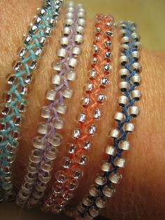 Braided Beaded Bracelets- Tutorial ❥ 4U // hf