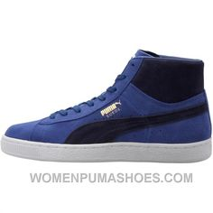 wholesale dealer f8881 4d84b Puma Suede Mid Classic - Limoges Peacoat White Lastest XCHs2