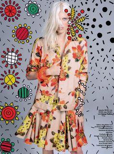 Vogue Brazil September 2014 | Devon Windsor by Jacques Dequeker [Editorial]