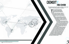 The double arrow subconsciously gives the feel of movement which fits perfectly with this article since it's about traveling. The repeating arch in text emphasizes the arrow. The globe also emphasizes the point of the article. The piece as a whole has an angular unity.
