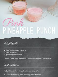 pink pineapple punch \  from lover.ly  http://lover.ly/read/food-and-drink/bar/pink-pineapple-punch-vintage-punch-recipe-wedding-shower?
