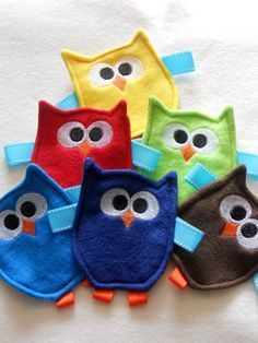 Friendly Owl Crinkle Toy for Baby Boy by LilBundleOfJoy on Etsy