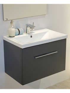 Vanity Units For Bathroom Wickes wickes mondavio wall hung vanity unit with basin | wall hung