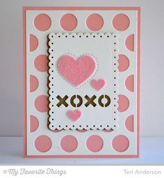Polka Dot Cover-Up Die-namics, Tag Builder Blueprints 3 Die-namics - Teri Anderson #mftstamps