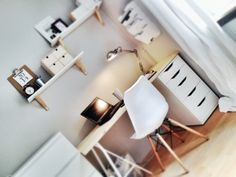 Arbeitsplatz im Schlafzimmer von Bei_mia_dahoam