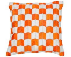 Orange Leather, Cushion Covers, Orange Color, Leather Cushions, Throw Pillows, Bed, Stuff To Buy, Home Decor, Products