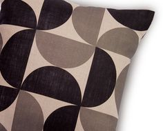 Tendance scandinave coussin imprimé 35 x 35cm 100% lin naturel intérieur coton OSLO 1 - 55€