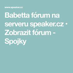 Babetta fórum na serveru speaker.cz • Zobrazit fórum - Spojky
