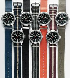I love these watches because of the interchangeable wrist bands.