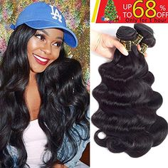 New in box QTHAIR Brazilian Hair Body Wave 3 Bundles Unprocessed Brazilian Human Hair Weave Weft 16 Natural Color Brazilian Remy Human Hair Extenions. longer size will look thinner and Bundles are necessary for a full head. Remy Human Hair, Human Hair Extensions, Remy Hair, Weave Extensions, Halo, Brazilian Hair Bundles, Silk Hair, Lace Hair, Body Wave Hair