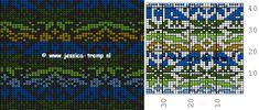 Fair Isle Noorse telpatronen of inbreipatronen  Free Norwegian color knitting charts