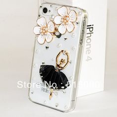 High quality Rhinestone Ballet girl phone case product for iphone 5 DIY Customized shining Ballet girl protective cover  http://baid.us/mAcf