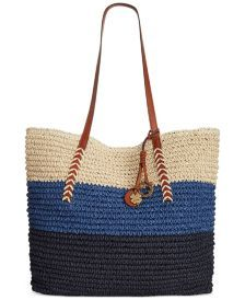 Lucky Brand Tango Straw Large Tote