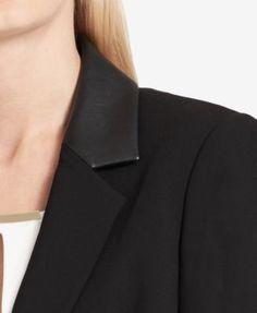 Calvin Klein One-Button Blazer - Black 10