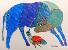 ArtQuid is a global online art marketplace allowing to buy Original Art and Prints (Canvas Prints, Acrylic Prints, Alu Dibond Prints, Fine Art Prints, Posters) directly from artists around the world. Worli Painting, Sketch Painting, Fabric Painting, Madhubani Art, Madhubani Painting, Arte Tribal, Tribal Art, Cow Craft, Indian Folk Art