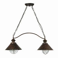 lmpara colgante rstica de dos luces jardin iluminacion lamparas
