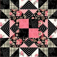 """Penelope's Garden Block 7 Kit: **Please note, this kit is for Block 7 only.**  Block 7 of Penelope's Garden by Shabby Fabrics.  Block finishes to 12"""" x 12"""".  Kit includes pattern and all top fabrics as shown."""
