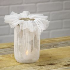 Starlight Luminary : crafts — another Joann idea. Could be pretty with tulle instead of cheesecloth?