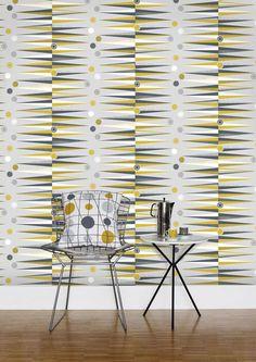 "Tapet ""Backgammon"" i färgen mustard. 610 kr/rulle, Mini Moderns/Tapetorama."