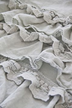 Shabby Chic Couture ruffled bed linens ~They are fabulous~