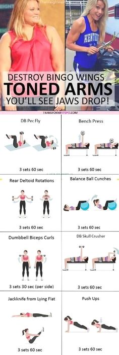 #womensworkout #workout #femalefitness Repin and share if this workout gave you ripped arms! Click the pin for the full workout. by tracy sam #HealthandFitness Fitness Workouts, Sport Fitness, Fitness Diet, At Home Workouts, Fitness Motivation, Health Fitness, Ab Workouts, Fitness Tracker, Fitness Models