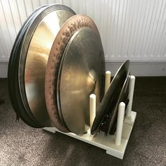 """40 Likes, 3 Comments - Hugh Lawrence (@cymbomute) on Instagram: """"£15 boot rack from #amazon = #cymbal storage rack. You're welcome! #cymbomute #tips #drums #cymbals"""""""