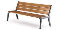 Public bench / contemporary / wooden / cast iron OPÉRA Sineu Graff