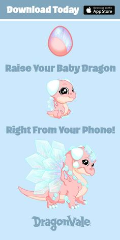 Dragonvale Has Over 300 Epic Dragons and Exotic Hybrids You Can Breed Right From Your Mobile Phone. - What more to say other than we just LOVE cool stuff! Check out our store for even more unique & COOL stuff! Dragon Mobile, Baby Animals, Cute Animals, Pokemon, Mileena, Baby Dragon, Dragon Art, Mythical Creatures, Animal Drawings