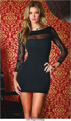 Make a great impression with our sexy mini dresses and be the star of the night. Discount sexy and flirty clubbing mini dresses are here from Envy Corner. Tight Dresses, Club Dresses, Sexy Dresses, Short Dresses, Mini Dresses, Sexy Women, Long Sleeve Short Dress, Mode Style, The Dress