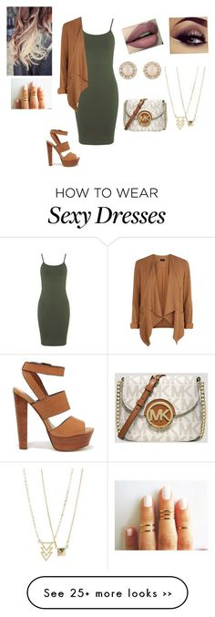 """Untitled #315"" by ljiljana31 on Polyvore featuring Miss Selfridge, Steve Madden, Kate Spade and MICHAEL Michael Kors"