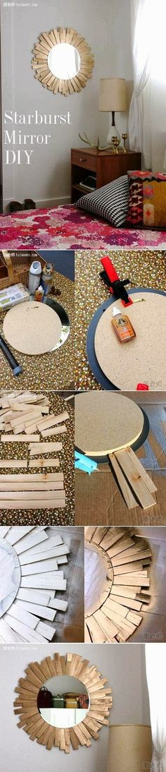 My DIY Projects: Diy Starburst Mirror