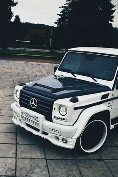 ♂ Black & White car #Mercedes G-class #automotive #transportation #wheels