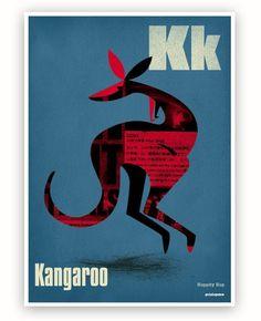 Hoppity Hop Kangaroo by Printspace. More Australiana on the RSD Blog www.rsdesigns.com.au/blog/
