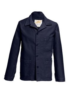 Le Mont St Michel Men's Stone-Washed French Worker Jacket and Matching Items & Matching Items - Bergdorf Goodman Elegantes Business Outfit, Common Projects Men, Le Mont St Michel, Bergdorf Goodman, Business Outfits, Distressed Denim, Military Jacket, Menswear, Man Shop