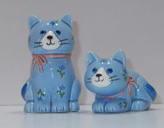 Otagiri Blue Cats Salt and Pepper Shakers - I had ones EXACTLY like these. They were a gift from my daughter & one got broke! ;0(