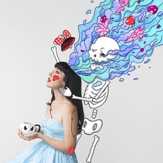 Combining illustrations and photographs to make boring images interesting - ColorWhistle Foto Doodle, Doodle On Photo, Artsy Photos, Draw On Photos, Photography Illustration, Photo Illustration, Creative Photography, Art Photography, Photo Manipulation