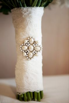 Lace pearl bouquet