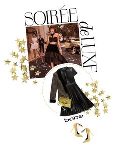 """""""Soirée de Luxe with bebe Holiday: Contest Entry"""" by twiluv18 ❤ liked on Polyvore featuring H&M and Bebe"""