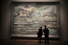 """anselm kiefer - one of my favourite """"anything can go on the canvas"""" artists"""
