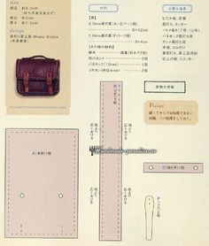 Миниатюрный портфель из кожи. Шаблон.