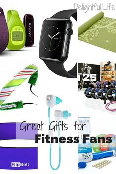 Great gift ideas for Fitness Fans! Apple watch, workout accessories, and great suggestions for a healthier life! Workout Accessories, Yoga Accessories, Fitness Accessories, Workout Gear, Fun Workouts, Workout Shirts, Flip Belt, Fitness Watches For Women, Gifts For Runners