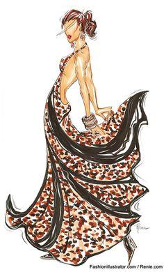 Fashion Illustration by Renie, a professional fashion illustrator & designer based in New York City
