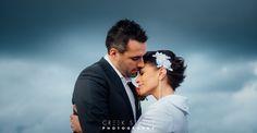 Rebecca & Byron at Wedding at North Head Manly in Sydney Australia #wedding #brideandgroom #snuggle