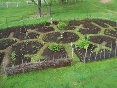 Edible Landscaping: Permaculture - Kitchen Garden jardin potager bauerngarten köksträdgård