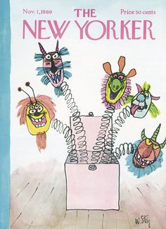 The New Yorker - Saturday, November 1, 1969 - Issue # 2333 - Vol. 45 - N° 37 - Cover by : William Steig