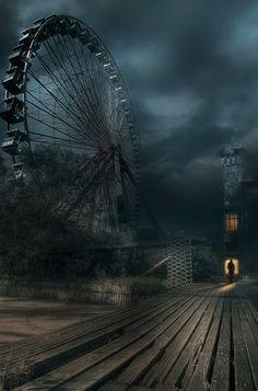 """Ferris Wheel and Boardwalk"" Photographer:  Photoportee"