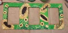Craft project: triptych sunflower photo frame