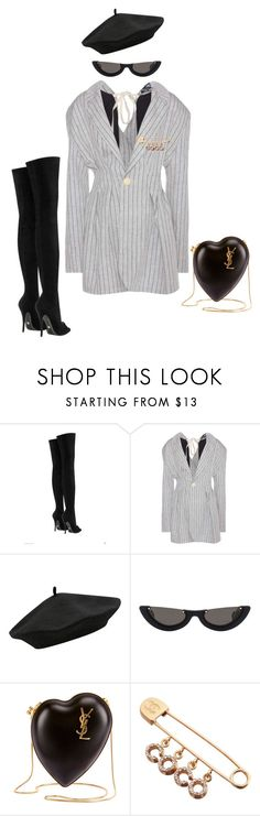 """""""Goody Two Shoes"""" by milly-oro on Polyvore featuring Versace, Jacquemus, M&Co, PAWAKA, Yves Saint Laurent and Chanel"""
